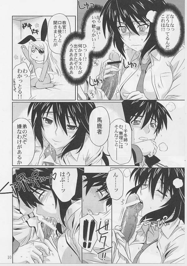 【IS エロ同人】ラウラがセクロスのやり方分かんないから一夏を使って教えてもらう【無料 エロ漫画】08