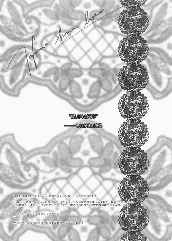 【ヘタリア エロ同人】巨乳のハンガリーが悔し涙浮かべながらエロ奉仕しちゃってるよぉ【無料 エロ漫画】27