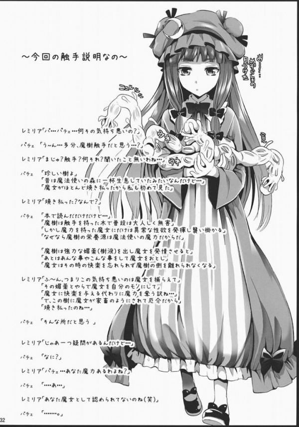 【東方 エロ同人】捕らわれのアリスが触手に陵辱レイプされちゃてるよぉ~【無料 エロ漫画】29