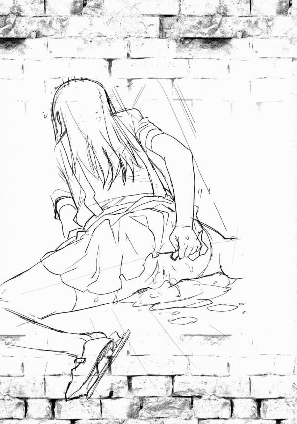 【艦これ エロ同人】ちっぱい未成熟の朝潮と提督が濃厚ファックでザーメンまみれに・・・幼女まんこ広げて…【無料 エロ漫画】47