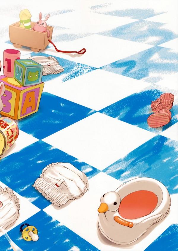 【エロ漫画・エロ同人誌】パイパンちっぱいのJSが赤ちゃんコスしたキモヲタを赤ちゃんと思い込み優しくあやしてるおwww手コキでぶっかけ射精し調子に乗ったキモヲタがっついてJSまんこにチンポハメ出し全力で突きまくって中出しするキモヲタ赤ちゃんwww 018