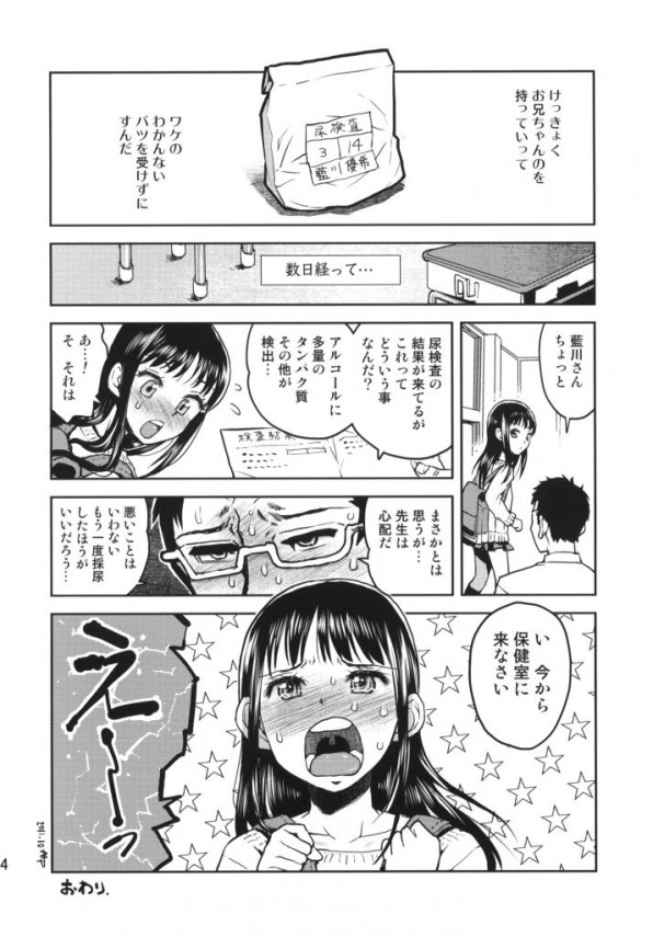 【エロ漫画・エロ同人誌】ちっぱいJSが風呂場で近親相姦ファックwww str023