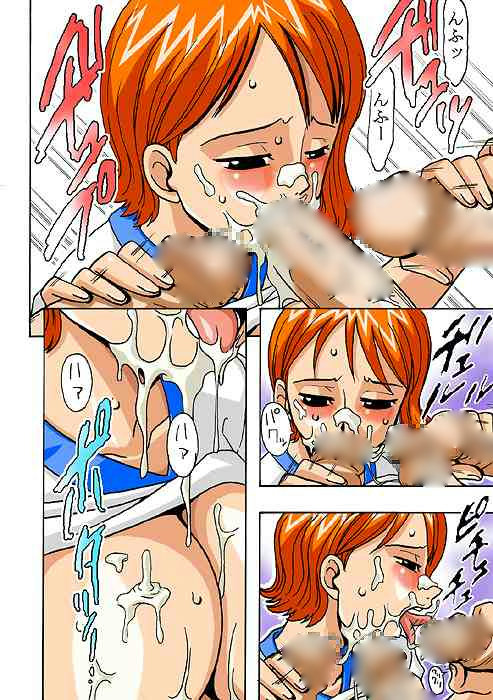 【ONE PIECE】ナミが複数チンコに囲まれ3穴同時乱交【エロ漫画・エロ同人誌07