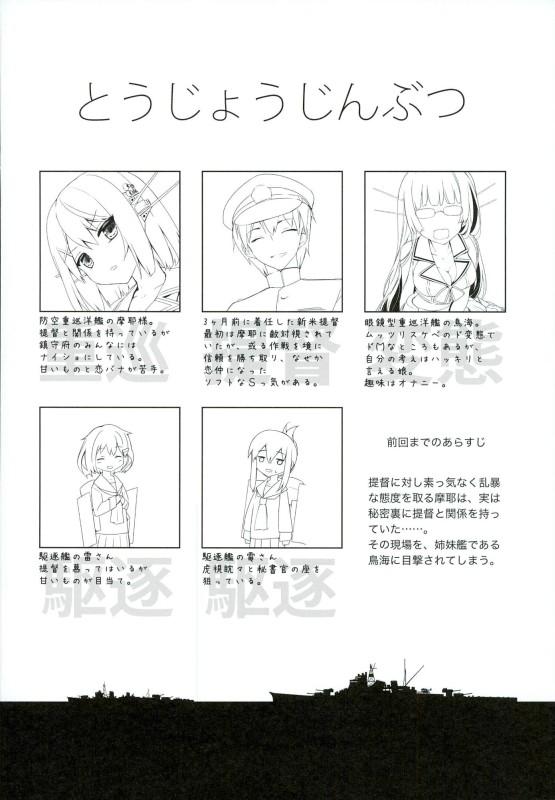 【艦これ エロ同人】巨乳の「摩耶」と「鳥海」が提督と3Pセックスしちゃってるw【無料 エロ漫画】_2