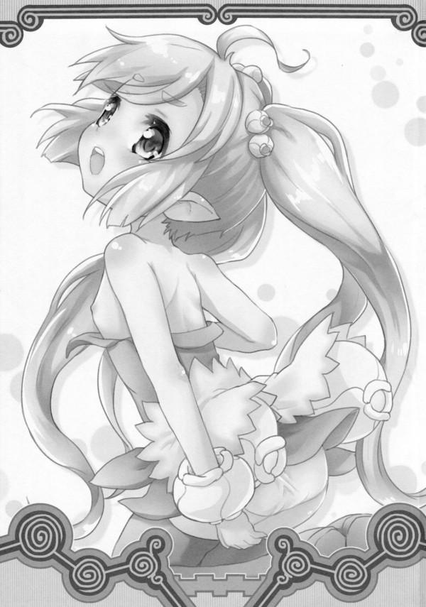 【サモンナイト エロ漫画・エロ同人】貧乳ロリのマルルゥがエッチな遊びしてるw小さい身体の小さいマンコにお腹一杯中出しセックスwww (3)
