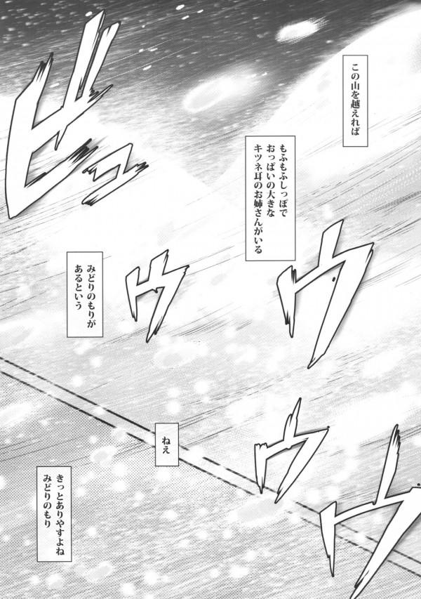 【東方 エロ漫画・エロ同人】ケモミミ巨乳の八雲藍が旦那様って言ってきて可愛いからエッチしますたwエロいマンコをクンニで味わってたっぷり中出しセックスwww (3)