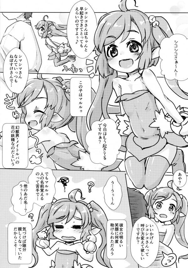 【サモンナイト エロ漫画・エロ同人】貧乳ロリのマルルゥがエッチな遊びしてるw小さい身体の小さいマンコにお腹一杯中出しセックスwww (6)