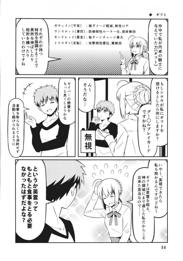 【FGO】セイバーとセラと士郎の愛情あふれる日常生活だよw【エロ漫画・エロ同人】 (14)