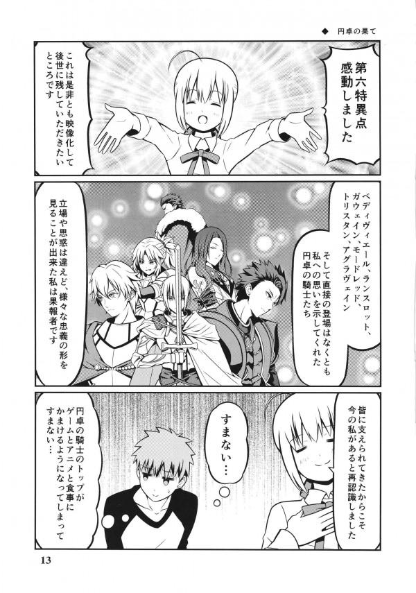 【FGO】セイバーとセラと士郎の愛情あふれる日常生活だよw【エロ漫画・エロ同人】 (13)