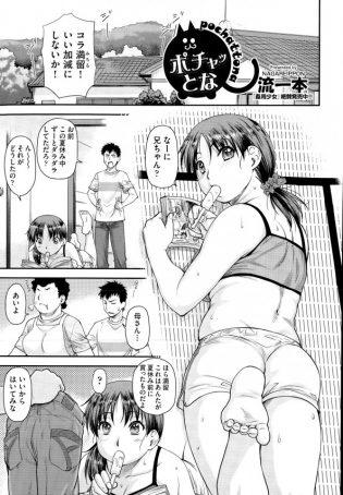 【エロ漫画】自慢の妹が不摂生でぽちゃ体型に肥えちゃったから乱暴におっぱい揉んだら…【流一本 エロ同人】