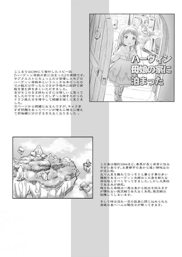 例の島にドラフが降ってきた。(前編)【グラブル】ハーヴィンの女の子に囲まれて中出しえっちし放題www【エロ漫画・エロ同人】 (9)