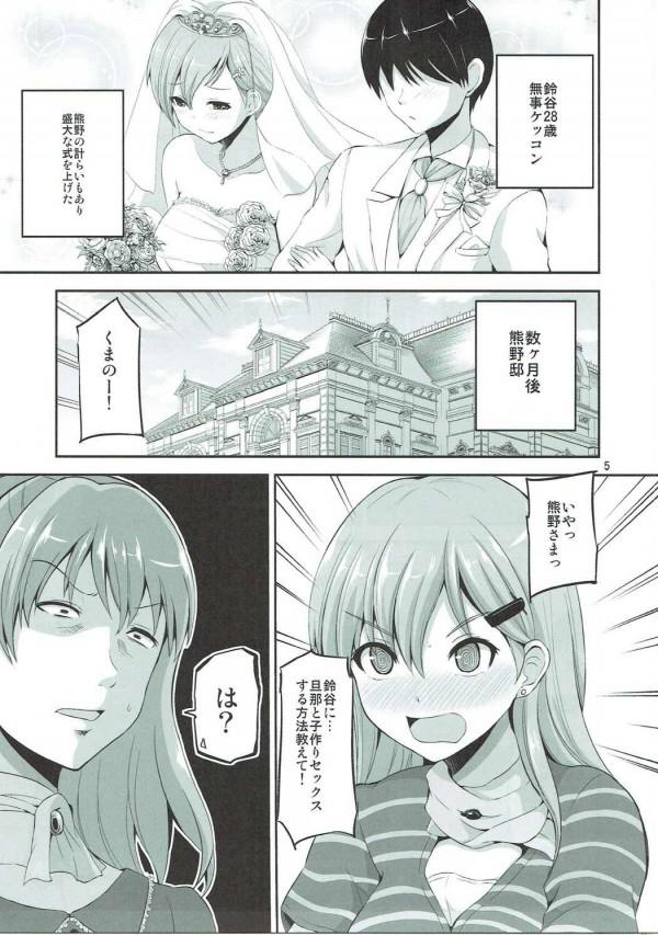 【艦これ エロ漫画・エロ同人】結婚以来なかなかエッチできずにいた鈴谷と提督がホテルでラブラブエッチ♡ (4)