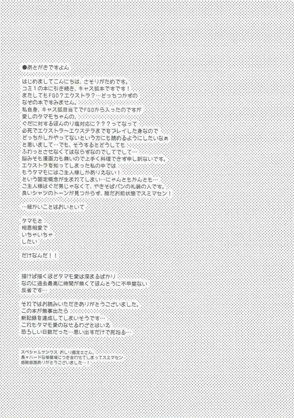 【FGO】玉藻の前ちゃんはマスターを誘惑するのが得意なおっぱい星人www【Fate エロ漫画・エロ同人】 (20)
