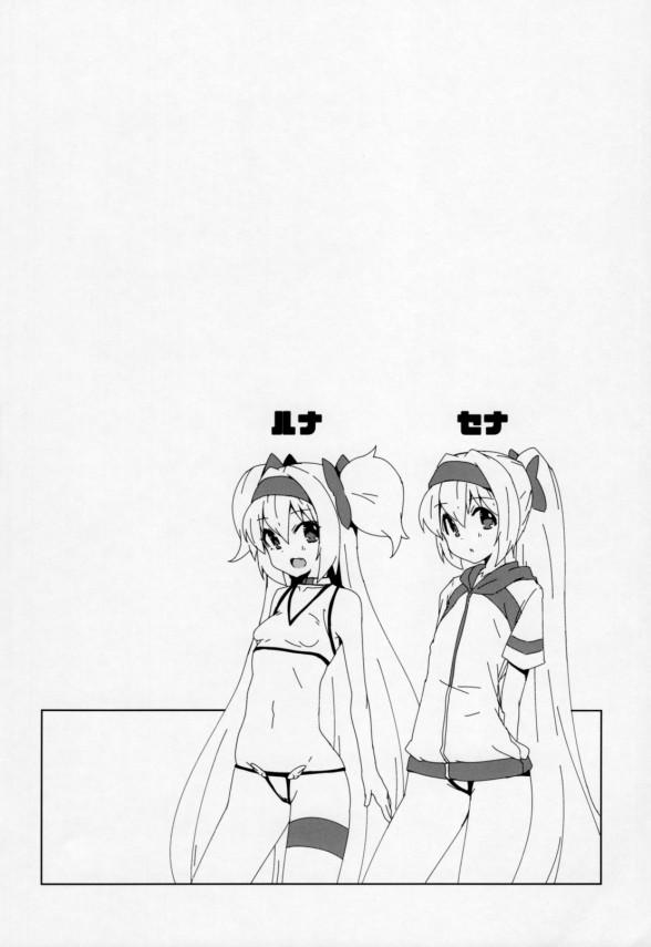 【BLAZBLUE】セナが巨乳美女に興味を持った事に嫉妬したルナが怒るがイチャラブセックスした件www【エロ同人誌・エロ漫画】 (3)