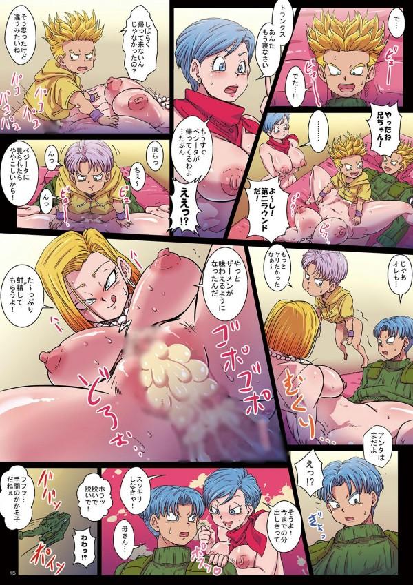 【ドラゴンボール】大人のトランクスと子供のトランクスと3Pするブルマwww【エロ同人誌・エロ漫画】 (15)
