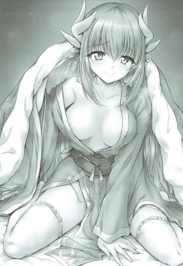 【FGO】清姫が朝立ちフェラしてくれる夢をみて起きたら現実だったwww【Fate エロ漫画・エロ同人】 (2)