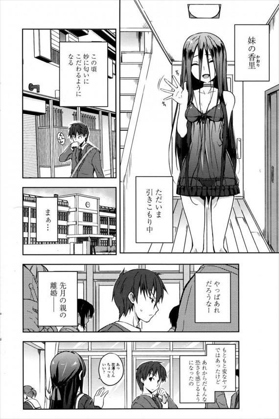 【エロ漫画】親が離婚して引きこもりになった妹が兄がどこにも行かないように逆レイプをして中出しまでさせちゃう (2)