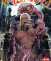 【エロ漫画・エロ同人】ダークエルフが宇宙人のアジトに連れて行かれて宇宙人に犯されるwww