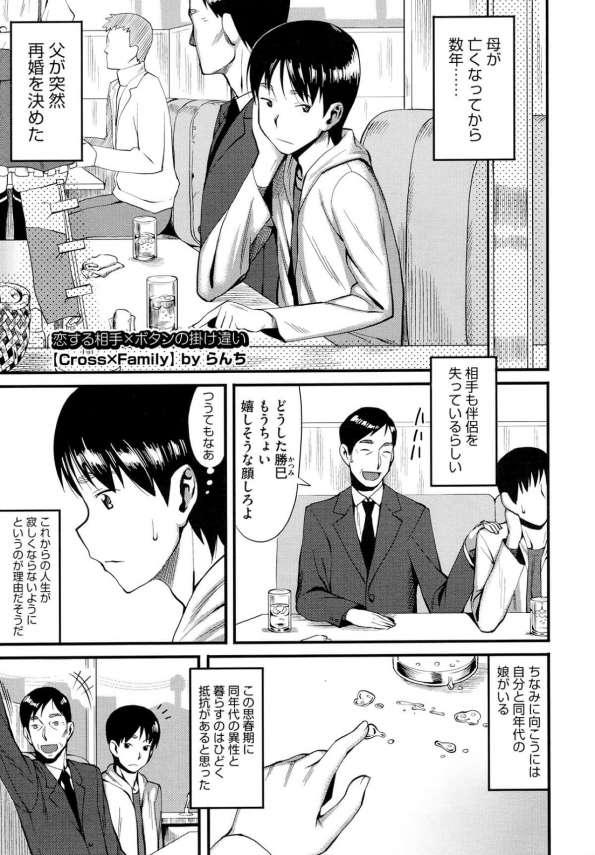 【エロ漫画】父が再婚し、息子が再婚相手の義母に恋をしてしまいエッチなイタズラしちゃう!【らんち エロ同人】