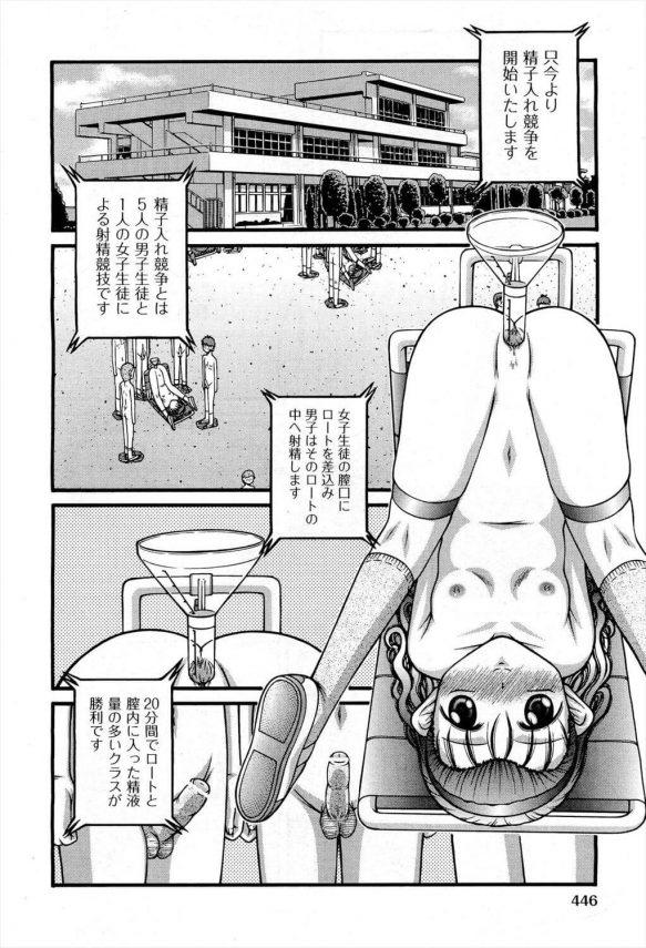 【エロ漫画】スケベな学校で行われる運動会は生徒達が裸になってエッチな競技をする!【KEN エロ同人】(8)