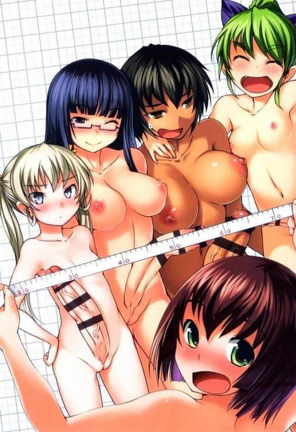 【エロ同人誌】今日はふたなり部の身体測定でそれぞれ女学生がチン長を計っちゃう!【AskRay エロ漫画】
