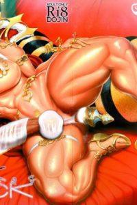 【エロ同人誌】ムキムキマッチョで巨大フタナリちんぽ生やしちゃってる褐色美女のフルカラー画像が満載!!【戦国女傑絵巻 エロ漫画】