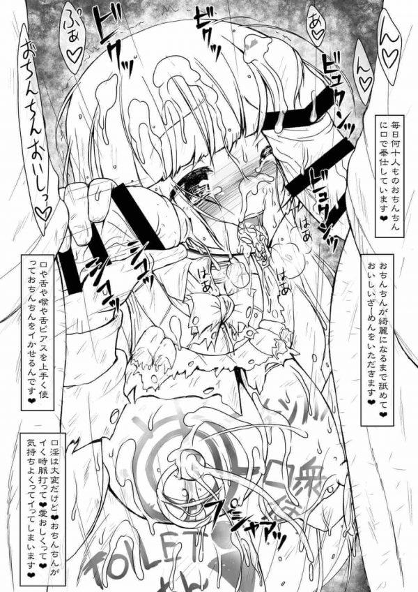 【エロ同人誌】全身に卑猥な落書きやピアス、搾乳器や子宮脱など・・・肉便女の酷い姿をどうぞwww【サークルENERGY エロ漫画】 (7)
