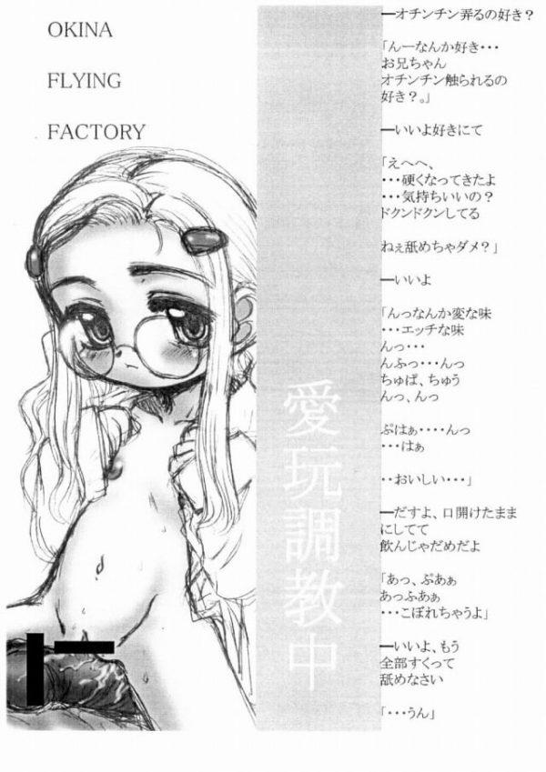 【エロ漫画・エロ同人誌】無口な貧乳幼女をもっと気持ちよくさせるために薬を注入してアナルファック!!【Okina Flying Factory】(11)