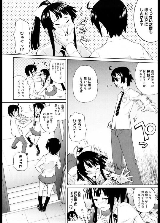 【エロ漫画】妹と姉に同時に言い寄られる俺w肉親相手にありえねーけど、年頃の男の子は本能には逆らえなくて…【てりてりお エロ同人】(2)