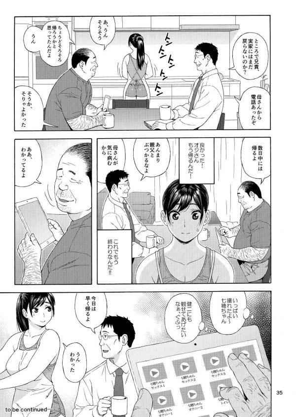 【エロ同人誌】恋敵でもある弟の娘をレイプしちゃう変態キモ男の兄w【666PROTECT エロ漫画】(34)