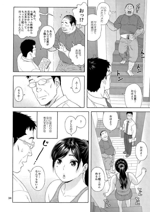 【エロ同人誌】恋敵でもある弟の娘をレイプしちゃう変態キモ男の兄w【666PROTECT エロ漫画】(33)