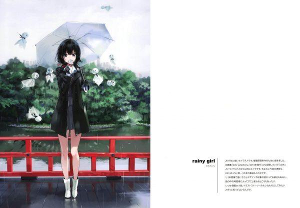 【エロ同人誌】雨と女の子をテーマにした美麗イラスト集です!雨が降る時だけ死んだ生き物を蘇らせることができる、というすこし不思議なあめおんなたち。【atelier Tiv artworks エロ漫画】(13)