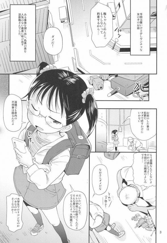 【エロ同人誌】口悪い眼鏡っ子JSがセックス教えろって命令してきたのでまんこもアナルも中出ししてやったw【ステータスどく エロ漫画】(3)