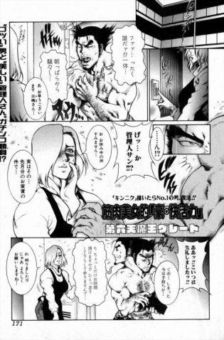 【エロ漫画】久し振りに男のたくましい体を見たムキムキな美人管理人はトレーニング後にオナニー開始♪【無料 エロ同人】