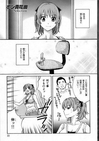 【エロ漫画】家に帰ると椅子が魔改造されていて、菜々はバイブを股に挟んで椅子に座りオナニーを始めてしまうw【無料 エロ同人】