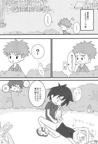 【エロ同人 デジモン】キャンプ場で八神太一と石田大和がホモショタセックスをしているよ!【無料 エロ漫画 ぼくらのラーメン×セックス 後半】